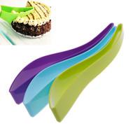 cuchillo ecológico al por mayor-Nueva Cake Pie Slicer Sheet Eco-Friendly Cutter Server Bread Slice Knife Kitchen Gadget cuchillos de cocina herramientas de cocina envío gratis TY678