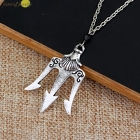 Wholesale Poseidon Necklace - Wholesale- 2016 Free Shipping a Lot Percy Jackson The Olympians The Sea of Percy Jackson Necklace Poseidon Necklace For Men And Women