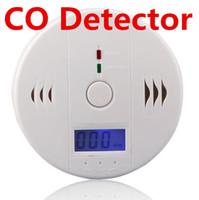 carbon monoxide alarm al por mayor-Detector de monóxido de carbono CO Detector de sensor de advertencia de alarma Detectores de envenenamiento por incendio de gas Pantalla LCD Vigilancia de seguridad Alarmas de seguridad en el hogar