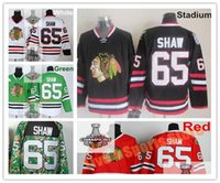 2016 Stadio Serie Andrew Shaw Ice Hockey maglie Verde 65 Andrew Shaw hokey rosso Jersey Bianco