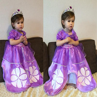 Wholesale Vestidos Princesa Infantil - Disfraz Princess Sofia Girl Dress Costume Vestidos Princesa Sofia Roupas Infantil De Meninas Casual Dress Kids Clothes