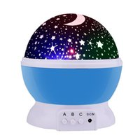 Wholesale Romantic Beds - Romantic New Rotating Star Moon Sky Simulation Rotation Night Projector Light Lamp Projection with high quality Kids Bed Lamp