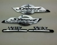 Wholesale Sticker Gas Tank Motorcycle - Chrome Motorcycle Stickers VLX Steed Logo Gas Tank Emblem Badge Decal for Honda Shadow STEED VLX 400 600 3D Decorative Sticker