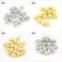 Wholesale Gold Tone Bead Caps - Wholesale-Free Shipping 20pcs Bail Gold Vintage Atq Silver Tone Alloy Buddha Head Charm Spacer Bead 10mm