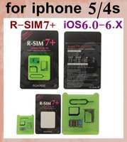 Wholesale Sim Unlock Adapter Card - R-SIM7+ RSIM7 plus R SIM 7 R-SIM 7 unlock sim card for iphone 4s 5 micro nano sim to normal sim adapter for iOS 6.0-6.X vs r sim 9 proOTH018