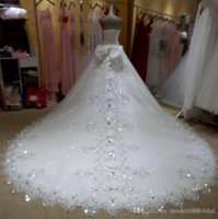 Wholesale Organza Wedding Gloves - 2015 Summer Plus Size Wedding Dress Bridal Gown Sweetheart Beading Crystal Luxurious Custom Made Sexy High Quality Lace Up Fit Like Gloves