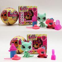 Wholesale Ems Toys - LOL SURPRISE DOLL toy Series 3 pet doll edition action figures LOL pet dolls toys PVC size 7cm Without function EMS C3240