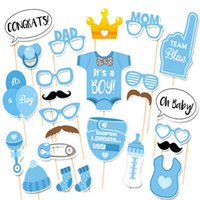 Baby Boy Foto Stand Requisiten Kaufen -Photo Booth ist es ein Junge Baby Dusche Geburtstag Party Photo Booth Requisiten Neugeborenen jungen Photobooth Props 1. Geburtstag Baby Dusche blau