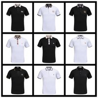Wholesale Mens Dotted Shirts - Summer New Design Luxury Brand Mens Polo Summer Fashion Short Sleeve Embroidery Polo Shirt High Quality With Tags M-3XL