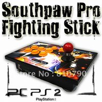 Trasporto All'ingrosso-Libero! Southpaw Fighting Stick G-YC62A-R Joystick Arcade Street Fighter IV per PC mancino, 1pcs gioco joypad / lot