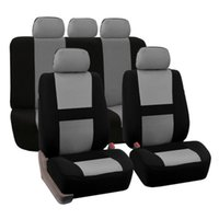 Wholesale universal truck accessories - Universal Fit Car Seat Cover Set 9 pc Cloth Seat With Fit Most Auto SUV Truck Van Interior Accessory Seat