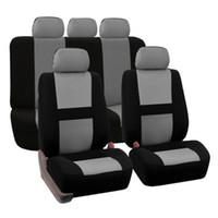 sièges de van achat en gros de-Universal Fit siège de voiture housse Set 9 pc siège en tissu avec Fit plus Auto SUV Truck Van intérieur accessoire siège