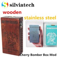 Wholesale Brass Contact - DHL free Newest Cherry Bomber Box Mod Dual 18650 Battery Brass Contact 510 Thread Vape Mod Fit RDA Atomizer from Silviatech