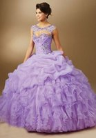 Vestido De Debuttante Sweet Sweet 16 Abiti Ball Gown Party 15 Anni Green Hot Pink Purple Masquerade Abiti Quinceanera