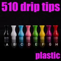 Wholesale mouth piece atomizer for sale - Group buy Vase Shape Drip Tips For E Cigarette Pure Color Plastic Mouth Piece Fit Subtank Nano Atomizer FJ608