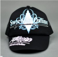 Wholesale Sword Girl Online - Wholesale-Hot summer Anime caps sword art online caps SAO baseball cap Sword art online sprots hat for boys girls
