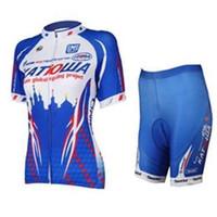 Wholesale Ladies Outdoor Sports Wear - new kindfactory best sale KAT cycling jerseys blue ladies sport clothes bike cycling shorts outdoor fitting wear bike jerseys