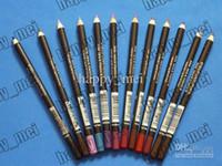 profesyonel makyaj kalemleri toptan satış-Ücretsiz Kargo ePacket Yeni Profesyonel Makyaj Eyeliner Dudak kalemi Kalem! 12 Renkler
