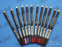 delineador de ojos al por mayor-Envío gratis ePacket Nueva Professional Makeup Eyeliner Lip Liner lápiz! 12 colores