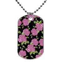 Wholesale Dog Penis - Floral Hipster Penis Pattern Customized Colorful Design Dog Tag Necklace Aluminum Tag for Animal Pets Tag