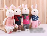 Wholesale 35cm Lovely Stuffed Cloth Doll Plush Toy Metoo tiramisu Rabbit Doll For Christmas Girl Birthday Gift Children s day Gift A6596