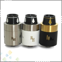 Wholesale Steel Mod - Newest Royal Hunter RDA Atomizer E Cigarette Rebuildable Dripping Tank RH Atomizer Stainless Steel Black 2 colors fit 510 Mods DHL Free