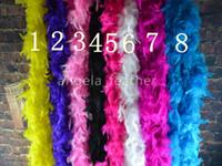 feder boa schals großhandel-Großverkauf-freies Verschiffen 200cm 20pcs viel die Türkei-Feder-Boa / Streifen für Hochzeits-Marabou-Feder-Boa-Schal 14 Farben