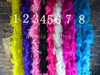 Wholesale Turkey Feather Boa Scarf - Wholesale-free shipping 200cm 20pcs a lot Turkey Feather Boa Strip for Wedding Marabou Feather Boa Scarf 14 Colors