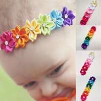 Wholesale Cute Foreign Baby Girl - Europe and the new season baby baby hair band   hair wholesale - cute girls hair headdress flowers Korean foreign trade explosion