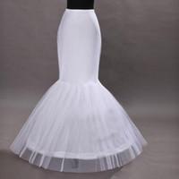 denizkızı düğün petticoat underskirt toptan satış-İnanılmaz Ucuz 2019 Mermaid Gelinlik Petticoat Mermaid Balo Kayma Kat Uzunluk Hoop Etek Petticoat Kabarık Etek Jüpon