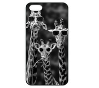 Wholesale Iphone 4s Cases Funny - Wholesale Sunglasses Giraffe Funny Design Hard Plastic Mobile Phone Case Cover For iPhone 4 4S 5 5S 5C 6 6plus