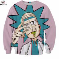 Wholesale Dropship Clothing Women - Wholesale- Rick and Morty Sweatshirts Men Women 2017 Streetwear Pullover Brand Clothing Cartoon 3D Funny Hoodies Sweatshirts Dropship