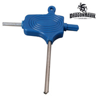 llave azul al por mayor-1 x Herramienta de reparación de ajuste de máquina de pistola de tatuaje Llaves Allen Color azul Llave Allen WS018-2