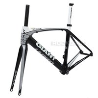 Wholesale Giant Carbon Road Bike Frames - 2013 GIANT TCR Composite T-600 Carbon Original 700C Road Bike Bicycle Parts Fork Frame Set Size S 465mm Black White