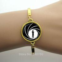 Wholesale james jewelry resale online - James Bond jewelry James Bond bracelet agent Pendant jewelry art gift for kids men women superheroes agent