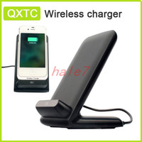 Wholesale Galaxy Nexus Dock Charger - 3 coils 100% Qi Wireless Charging mobile phone Charger Pad for LG g3 Nokia iphone 4s 5s Samsung galaxy S4 S5 Note 3 Nexus 5 7