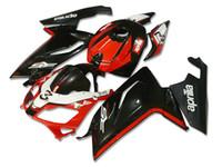 aprilia rs 125 abs carenado al por mayor-4 Regalos Nuevos carenados Inyección ABS kits completos de carenado de bicicleta para aprilia RS125 2006-2011 RS 125 06 07 08 09 10 11 Conjunto de carrocería RS4 rojo negro