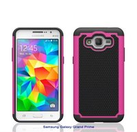 Wholesale Galaxy Active Cover - Football Rugged ballistic Impact Armor Combo PC+silicone Case cover For Samsung Galaxy Grand prime g530 core prime G360 S5 Active 50PC