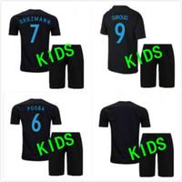 c53180ca981 KIDS FRANCE MAILLOT DE FOOT PAUL POGBA GRIEZMANN CABAYE BENZEMA PAYET  soccer jersey camisetas futbol thai thailand quality football jerseys ...