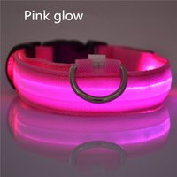 LED Nylon Pet Dog Collier Laisse Night Safety LED Light Clignotant Glow in the Dark Petit chien Pet Leash Dog Collar 4 tailles