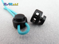 Wholesale Bag Stopper - 50pcs lot Cord Lock Toggle Clip Stopper Plastic Black For Bags Garments Size:15mm*14mm