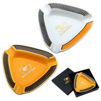 Wholesale steel ashtray - New fashion personality white and orange triangle shape two exquisite design exquisite quality grade wholesale ashtray