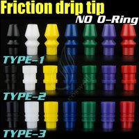 Wholesale delrin drip tips wide bore resale online - new friction drip tip creative No O ring ringless mouthpieces delrin wide bore enuff chuff mods rda rba atomizer rebuidable Dripper