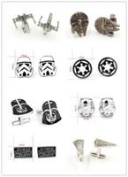 Wholesale Star Wars Jedi - fashion 8 designs star Wars Cufflinks Cuff Links Cartoon Jedi Knight Darth Vader Novelty Cufflinks Jewelry Cuff Links D526