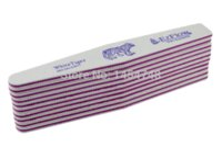 Wholesale Ezflow File - High Quality Ezflow Nail File White Tiger 100 180 GRIT 10Pcs Lot Diamond Shape Nail Tools Art Free Shipping Nail File Buffer OEM