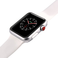 Wholesale ios control - New Black 42mm Goophone Watch 3 Sapphire Mirror Stainless Steel Wireless Charger MTK2502C 1.54 inch HD IPS Screen Bluetooth 4.0 Heart Rate