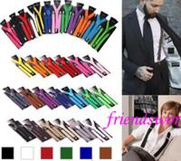 elastische verstellbare hosenträger großhandel-Qualität 1200 PC / Los Klipp auf justierbaren Klammern Süßigkeit-Suspender-Unisexhosen Y-hintere elastische Suspender Braces