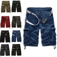 Wholesale Sport Camo Cargo Pants - Wholesale-Newly Hot Sale Men Casual Army Cargo Combat Camo Camouflage Overall Sport Pants