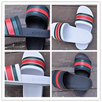 Wholesale Gladiator Heel Sandals - 2017 men's designer sandals fashion causal rubber huaraches sandals slide sandals non-slip summer outdoor brand slippers slippers