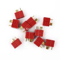 Wholesale Slip T Plug Connector - Wholesale-10 Pair XT Deans Style RC Lipo Battery ESC Ultra Anti-Slip T-Plug Connector Set